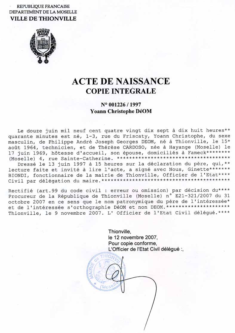 Ville De Saint Etienne Demande D Extrait D Acte De Naissance